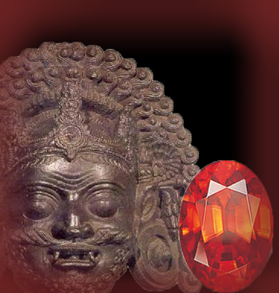 Rahu and Hessonite - The north node of the Moon, and the gem Hessonite